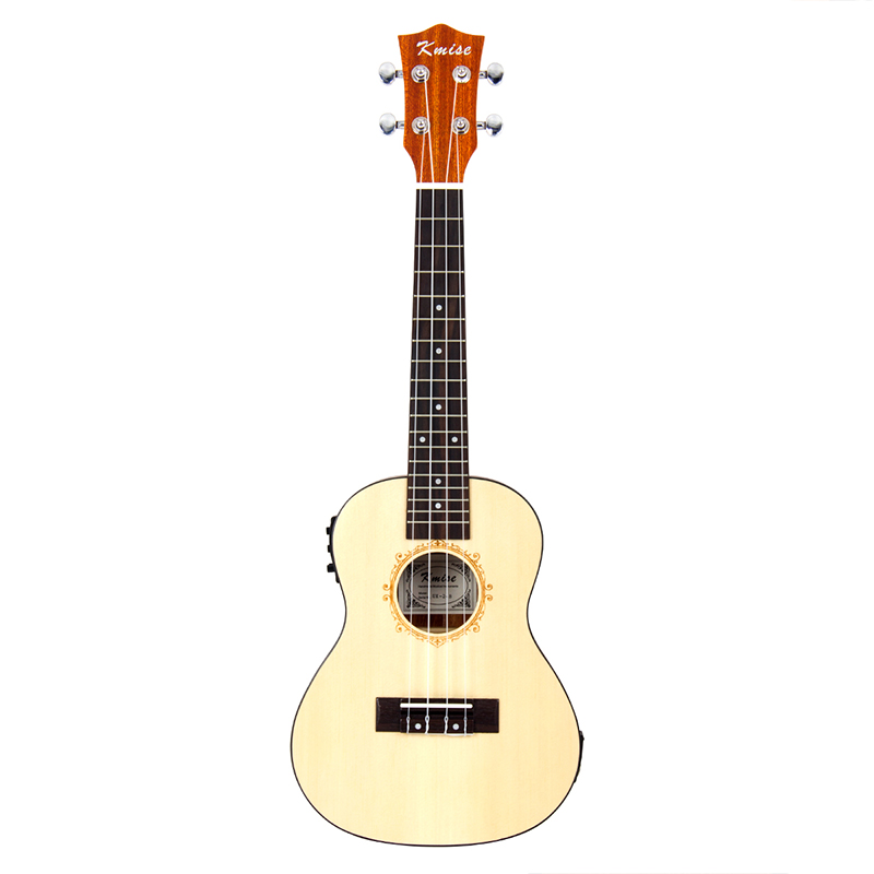 kmise electric ukulele solid spruce concert ukelele 23. Black Bedroom Furniture Sets. Home Design Ideas
